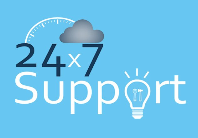 24 x 7 Support