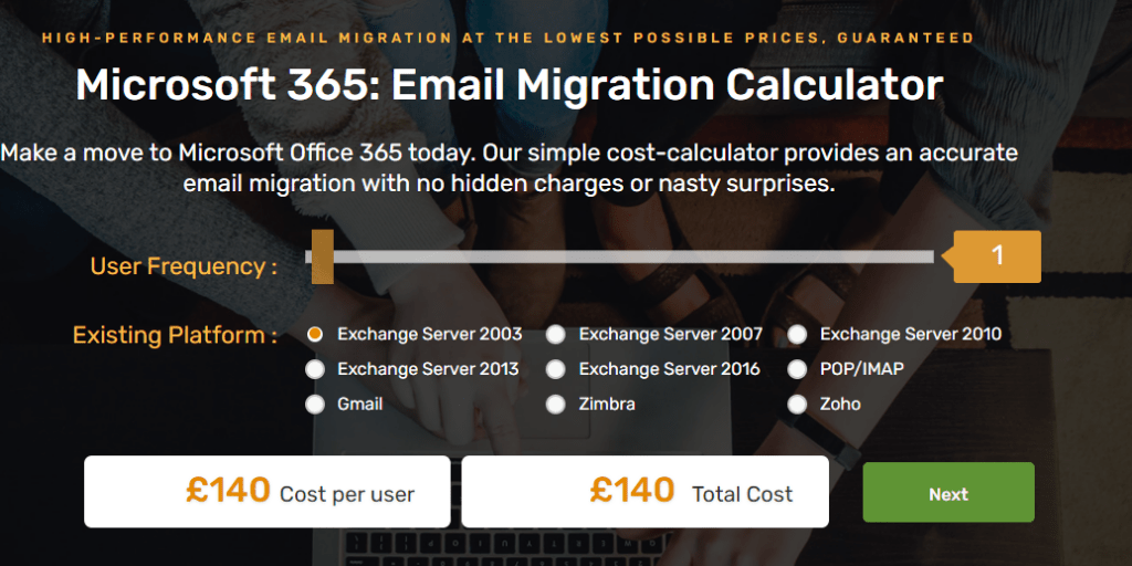 Email Migration Cost
